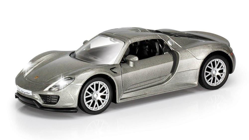 porsche 918 spyder grigia modellini automobili rmz city scala 1 32 ps 07461 p. Black Bedroom Furniture Sets. Home Design Ideas