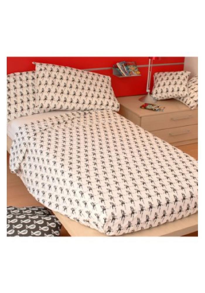 Set letto singolo diabolik pugnale bianco parure lenzuola - Misure lenzuola letto singolo ...