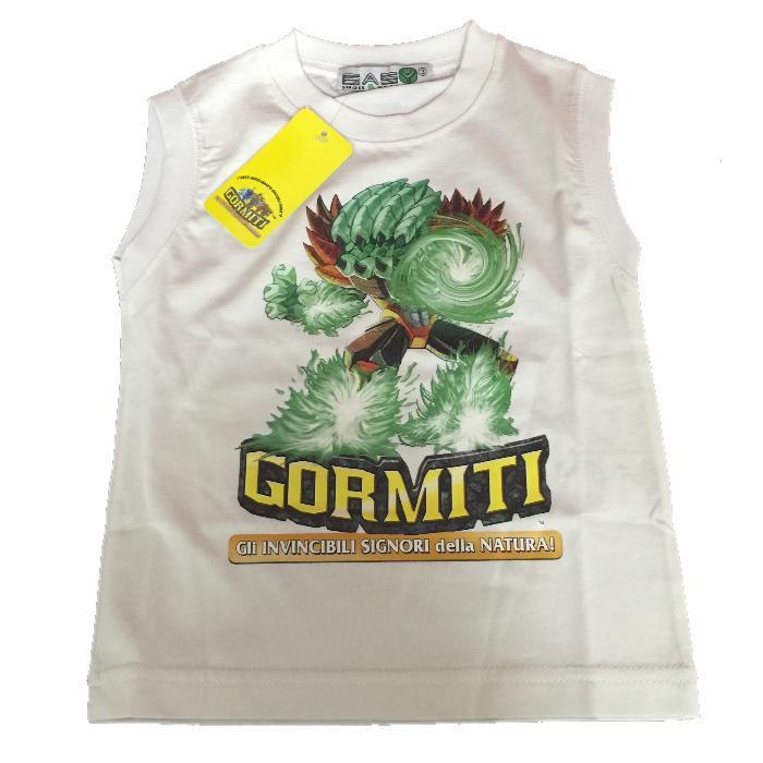 T-Shirt bambino Gormiti Smanicata Bianca 7ff7f066a30c
