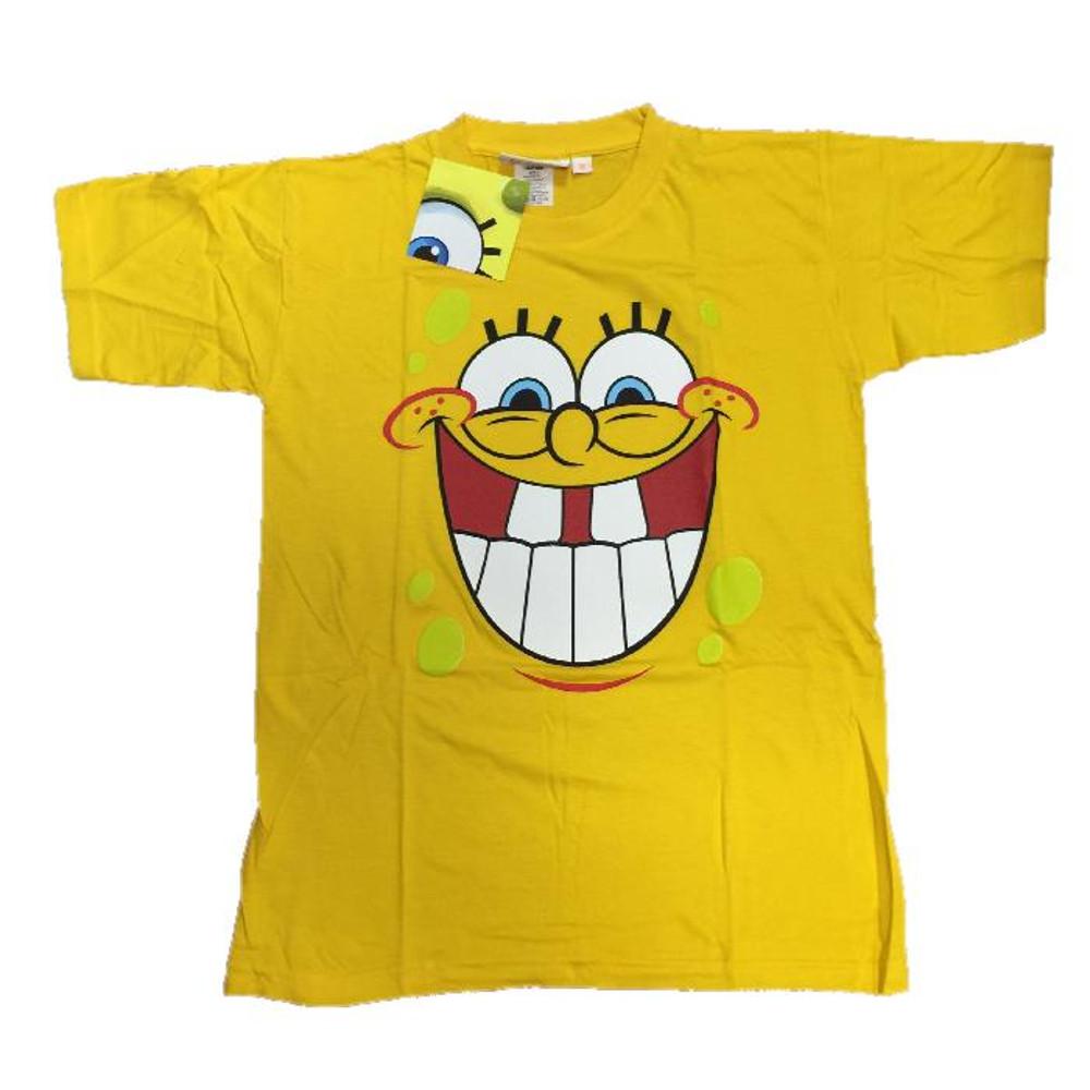 Bambino Ragazzo Smile Shirt Squarepants Spongebob Maglietta T 34RA5jLq