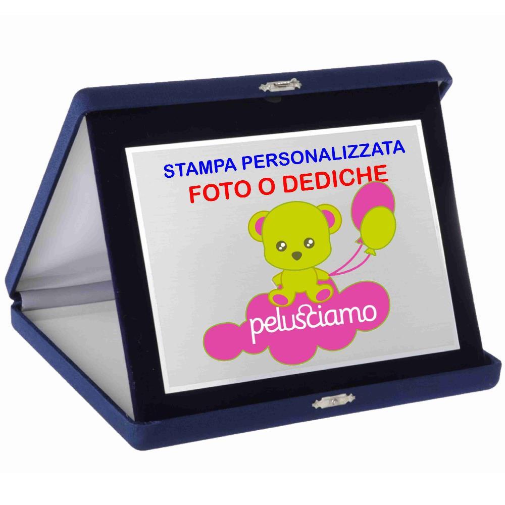 Targa Commemorativa 26 X 31 cm Personalizzabile Foto o Dediche PS 14056 pelusciamo store