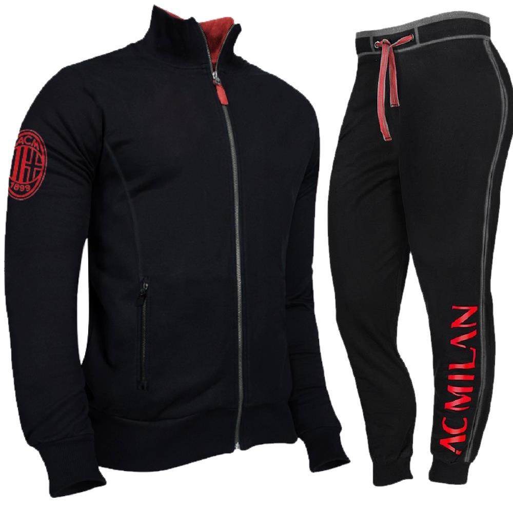 Tuta Milan Calcio Felpa e Pantalone Abbigliamento AC Milan PS 39687