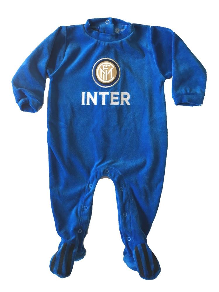Tutina Ciniglia Inter Logo Neonato  Bambino Primi Mesi| Pelusciamo.com