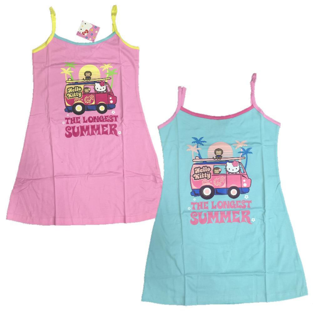 sneakers for cheap 5a48b ea9f5 Vestitino Prendisole Bimba Hello Kitty, Abbigliamento Bambina Cartoon *02784