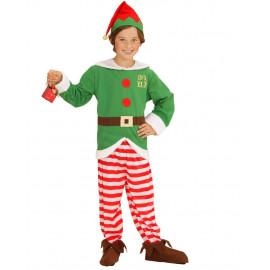 Costume Elfo Aiutante Di Babbo Natale PS 25871 Travestimento Natalizio
