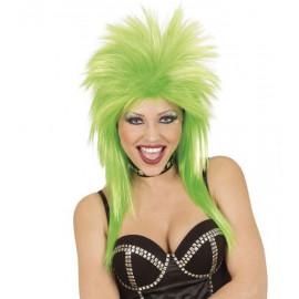 Parrucca Fluo Verde Anni 80, Costume Carnevale Fatina  | Pelusciamo.com