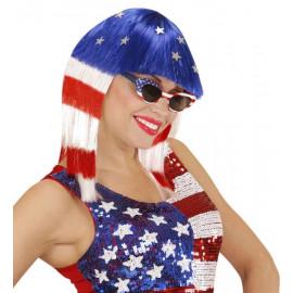 Parrucca donna Miss America Accessori Costume Carnevale *20081 pelusciamo store