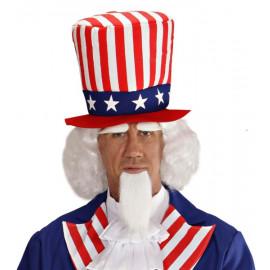 Parrucca barba e sopracciglia Zio Sam Accessori Costume Carnevale *20082 pelusciamo store