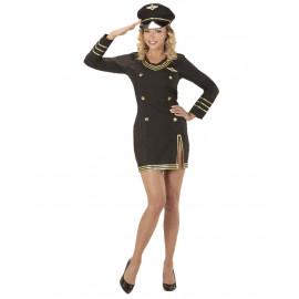 Costume Carnevale Donna Divisa Capitano Pilota PS 26149 Pelusciamo Store Marchirolo