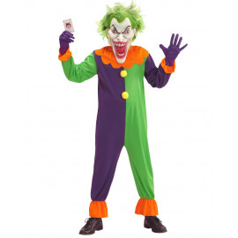 Costume Clown Evil Joker Travestimento Halloween Horror PS 25853 Pelusciamo Store Marchirolo