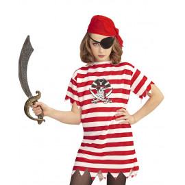 Costume Carnevale Pirati Maglietta Bandana Benda Occhio PS 26373 Pelusciamo Store Marchirolo