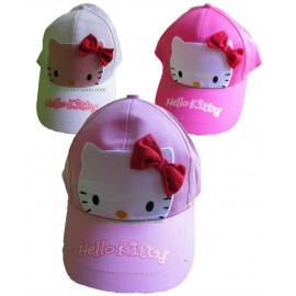 Cappellino con visiera baseball Hello Kitty fiocco face *08274