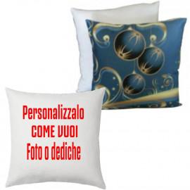 Cuscino Natalizio Palline Oro Personalizzabile 38x38 PS 10343 Gadget Personalizzato Pelusciamo Store Marchirolo