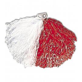 Accessorio Costume Carnevale cheerleader, Pom-Pom bianco rosso  | pelusciamo.com