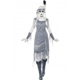 Costume Halloween Carnevale Donna Indiana Fantasma Smiffys Far West | Pelusciamo.com