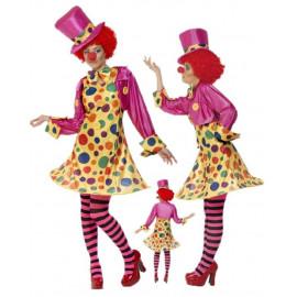 Costume Carnevale Donna Clown Vestito da Pagliaccio PS 12217