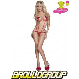 Abbigliamento donna Sexy Body String Rosso - Lingerie *12543