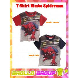 T-Shirt Maglietta Bimbo Spiderman City  Uomo ragno