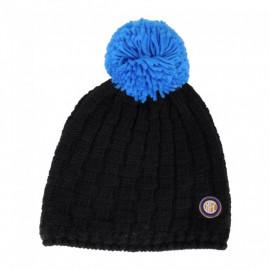 Cappello invernale ponpon abbigliamento ufficiale F.C. Internazionale*01108