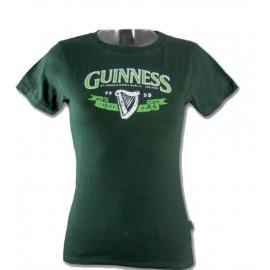 T-Shirt Donna Verde Guinness Beer Maglietta Manica Corta PS 15666