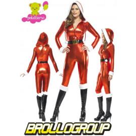Costume per Natale Babba natale latex travestimento santa claus | pelusciamo.com
