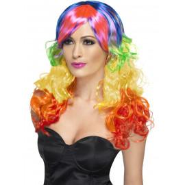 Parrucca Lunga Arcobaleno, Carnevale Donna Smiffys | Pelusciamo.com