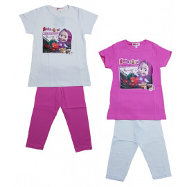 Completo Bambina Masha e Orso T-shirt e leggings PS 21268