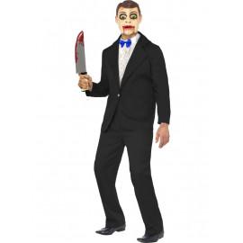 Costume Halloween Carnevale Adulto Ventriloquo Assassino Horror Smiffy's