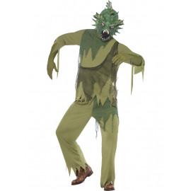 Costume Adulto Halloween Mostro della Laguna