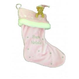Calza regali natale epifania peluche topolino Elliot 35 cm rosa *07285
