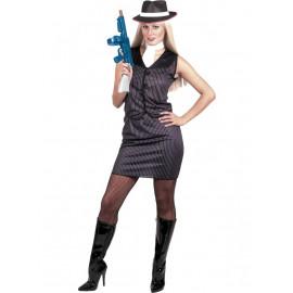 Costume Carnevale Donna Gangster Gilet