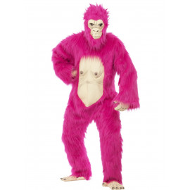 Costume Carnevale Gorilla Rosa , King Kong, deluxe  *18680