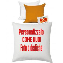 Cuscino Personalizzabile Bicolore Bianco Arancio 40x40 cm PS 10748 Gadget Personalizzato Pelusciamo Store Marchirolo