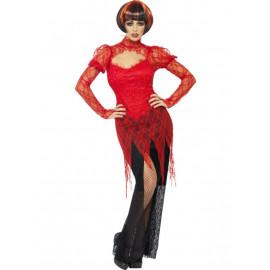 Costume Halloween Carnevale Donna Vampira Gotica horror smiffys