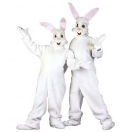 Costume Carnevale adulto mascotte in peluche travestimento coniglio *19966