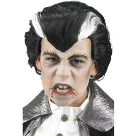 Parrucca Halloween Bimbo Dracula,  Accessorio Costume Vampiro