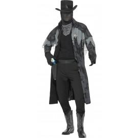 Costume Halloween Carnevale Adulto Sceriffo Western Spettro fantasma