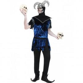 Costume Halloween Carnevale Adulto Giullare Buffone di Corte smiffys