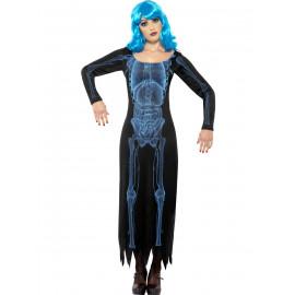 Costume Halloween Carnevale Donna Abito Raggi X Fluo | Pelusciamo.com