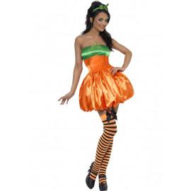 Costume Carnevale travestimento Halloween Donna Zucca smiffys *11929