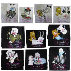 T-Shirt Donna Hello Spank Zodiaco, Maglietta maniche corte segni zodiacali *11685