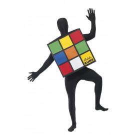 Costume Carnevale Adulto Cubo Rubik travestimento smiffys  | pelusciamo.com