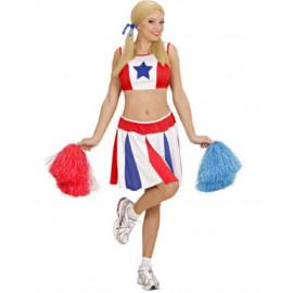 Costume Carnevale Donna Cheerleader PS 22944 Ragazza Pom-Pom Pelusciamo Store Marchirolo