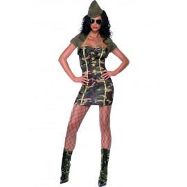 Costume Carnevale Donna Militare Maggiore travestimento mimetico *10458 smiffys