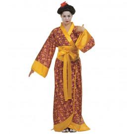 Costume Carnevale Geisha PS 25866 Abito Kimono Giapponese Pelusciamo Store Marchirolo