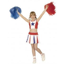 Costume Carnevale Cheerleader PS 22947 Ragazza Pom-Pom Pelusciamo Store Marchirolo