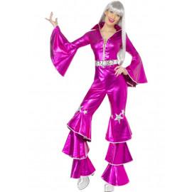 Costume Carnevale Donna Discoteca Fever anni 70 smiffys *15111