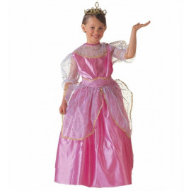 Costume Carnevale bambina principessa rosa princess beauty queen *20117 Pelusciamo store