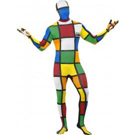 Costume Carnevale Cubo Di Rubik Tuta Seconda Pelle | Pelusciamo.com
