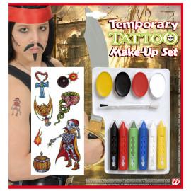 Set Tatuaggi Pirata Bimbo Make Up, Carnevale Halloween PS 00115